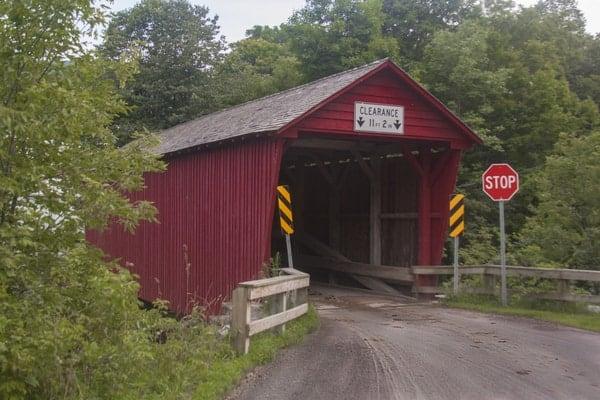 Logan Mills Covered Bridge in Loganton, Pennsylvania