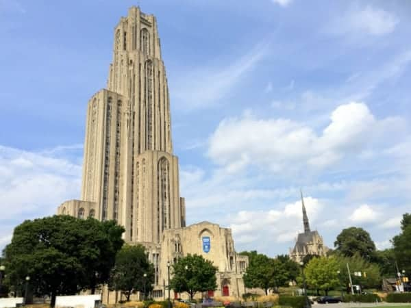 The Cathedral of Learning in Pittsburgh, PA