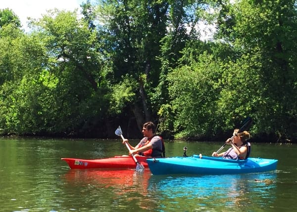 Kayaking on Swatara Creek is one of my favorite things to do in Hershey, PA