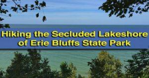 Hiking in Erie Bluffs State Park in Erie, Pennsylvania