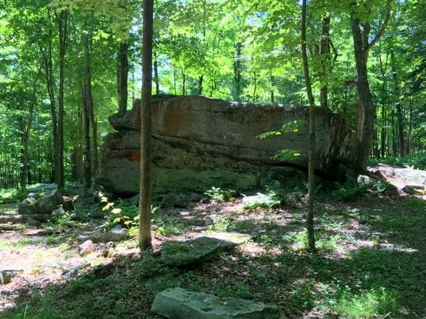 Alter Rock at Scripture Rocks Heritage Park in Jefferson County, Pennsylvania