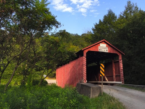 How to get to Creasyville Covered Bridge in Columbia County, Pennsylvania