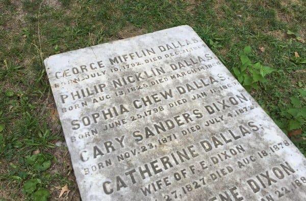 Grave of Vice President George Dallas in Philadelphia, Pennsylvania.