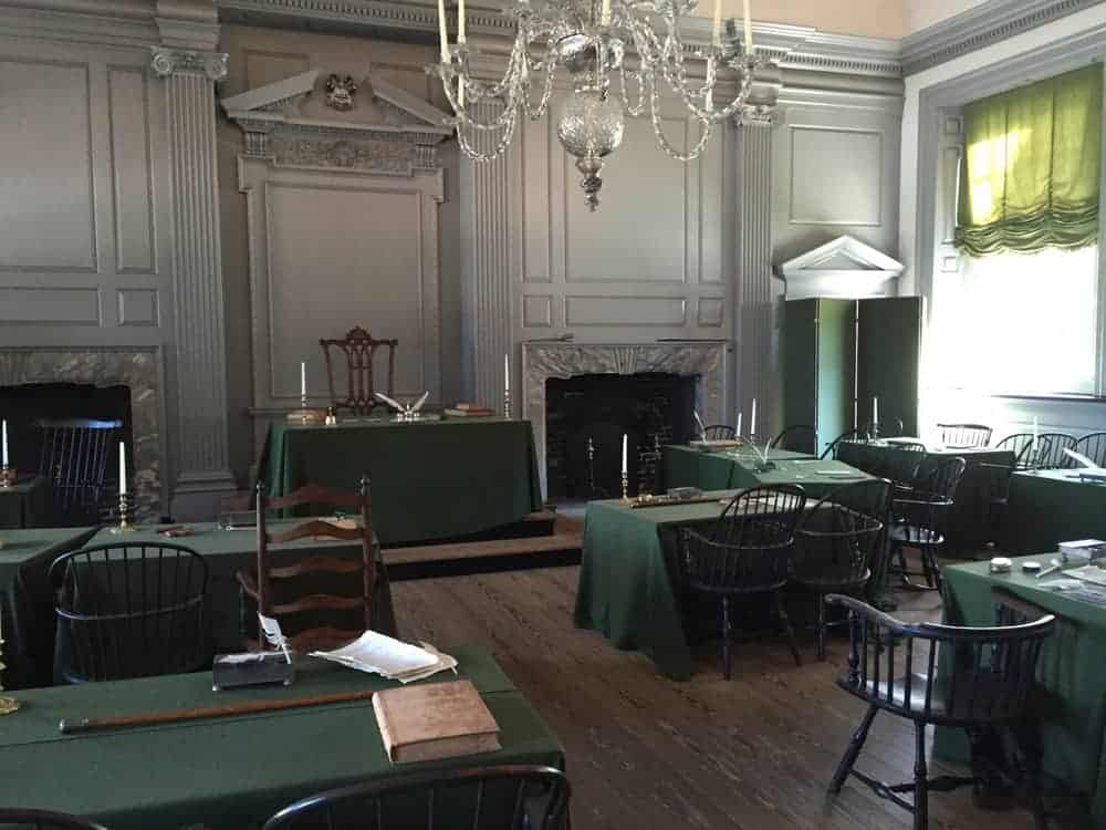 Assembly Room in Independence Hall in Philadelphia, Pennsylvania