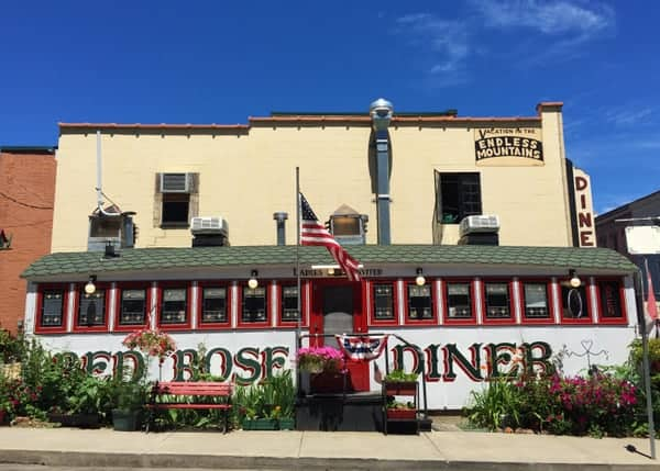 Red Rose Diner along Route 6 in Towanda, Pennsylvania.