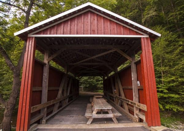 Visiting Shoemaker Covered Bridge in Columbia County, Pennsylvania