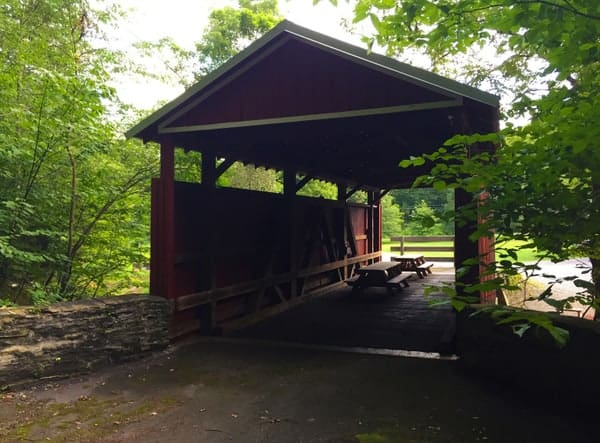 How to get to Shoemaker Covered Bridge in Columbia County, Pennsylvania