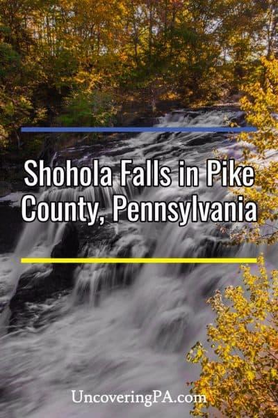 Shohola Falls in Pike County, PA