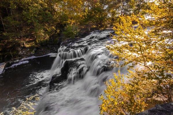 Visiting Shohola Falls near Milford, Pennsylvania