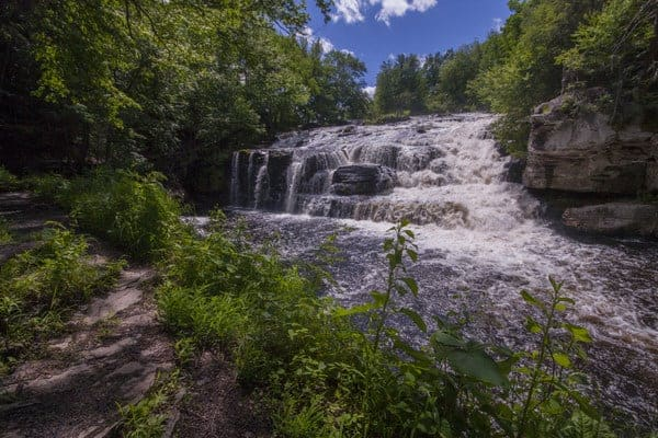 Waterfalls in the Poconos: Shohola Falls