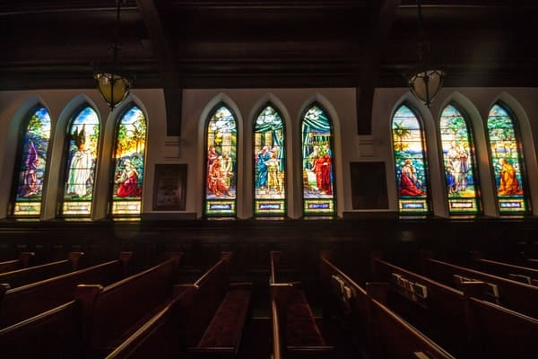 Tiffany Stained glass windows in Franklin, pennsylvania's, St John's Church