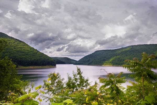 Allegheny Reservoir in Warren County, Pennsylvania