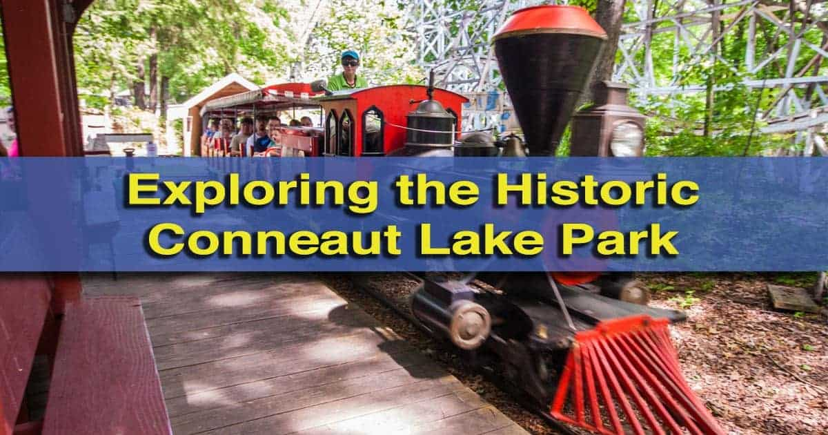 Visiting Conneaut Lake Park near Meadville, Pennsylvania