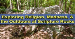 Visiting Scripture Rocks Heritage Park in Brookville, Pennsylvania.