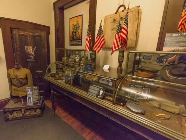 World War I Memorabilia at the Baker Mansion History Museum in Altoona, Pennsylvania