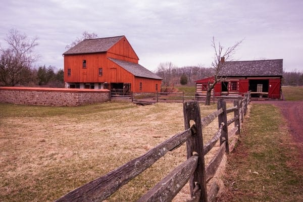 Visiting the Daniel Boone Homestead near Reading, Pennsylvania.