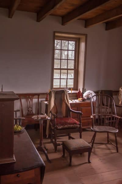 Inside the Daniel Boone Homestead in Berks County, PA