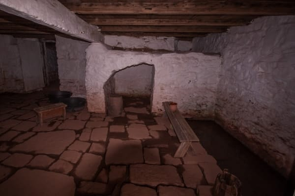 Cellar at the Daniel Boone Homestead in Birdsboro, Pennsylvania.
