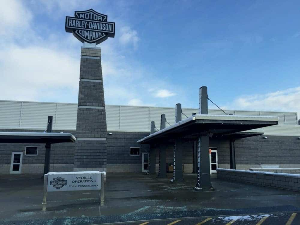 Harley Davidson Tour Center in York, Pennsylvania.