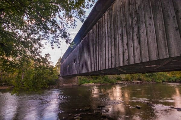 Kidd's Mill Covered Bridge in Mercer County, PA.