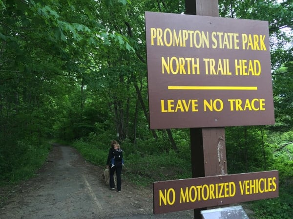 North Trailhead in Prompton State Park in Wayne County, Pennsylvania