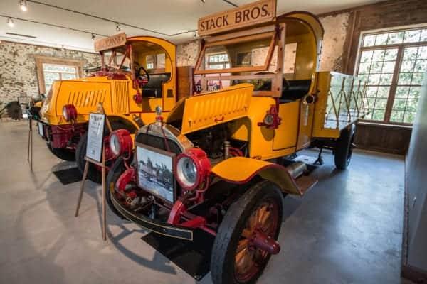 Antique ice trucks at the Antique Ice Tool Museum in Pennsylvania