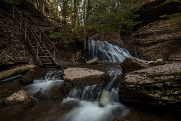 Getting to Hell's Hollow Falls in Lawrence County, Pennsylvania