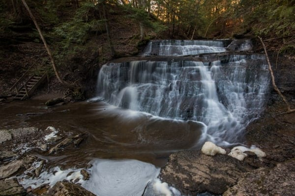 Hiking to Hell's Hollow Falls in Pennsylvania
