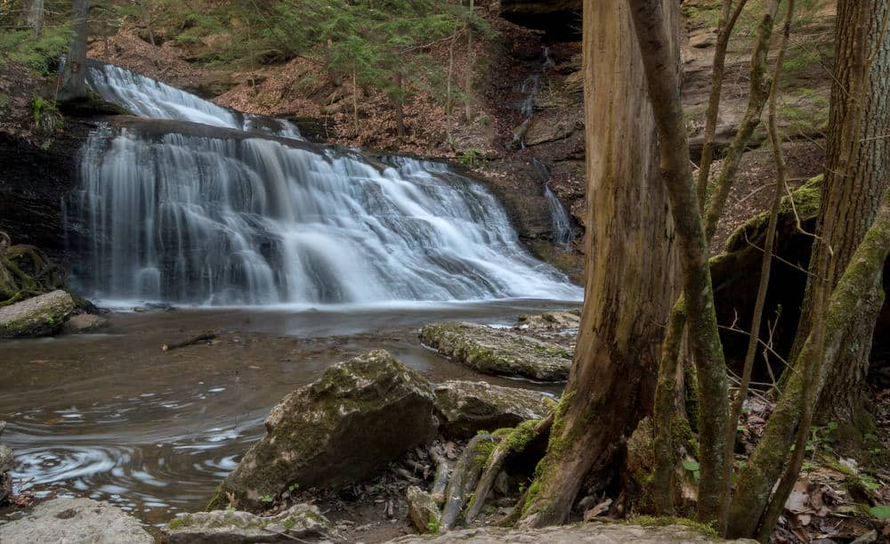 How to get to Hell's Hollow Falls in McConnells Mill State Park