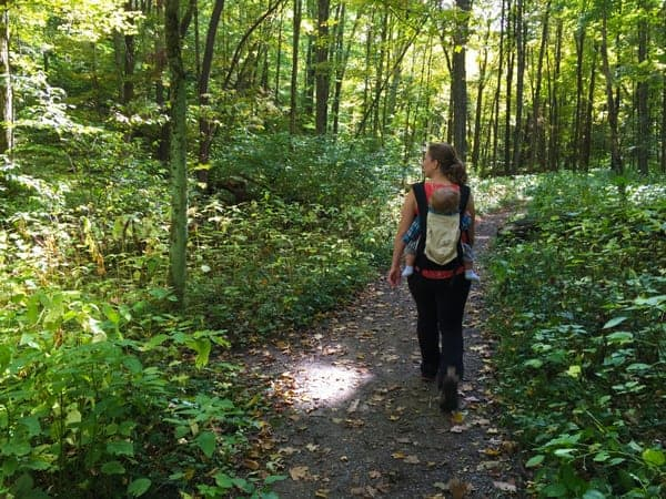 Hiking to Hell's Hollow Falls near New Castle, Pennsylvania