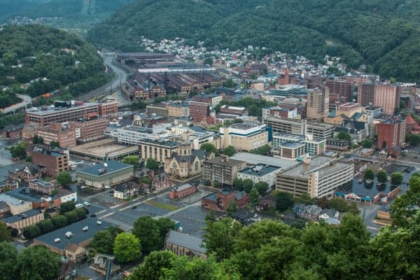 View from Johnstown Inclined Plane Observation Deck
