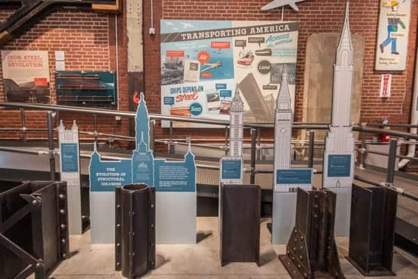 Displays at the National Museum of Industrial History in Bethlehem, Pennsylvania
