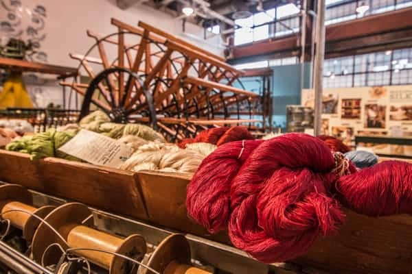 Silk industry artifacts at the National Museum of Industrial History in Bethlehem, Pennsylvania