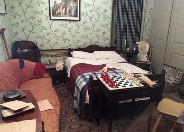 Bedroom in the Thaddeus Kosciuszko National Memorial in Philadelphia, PA