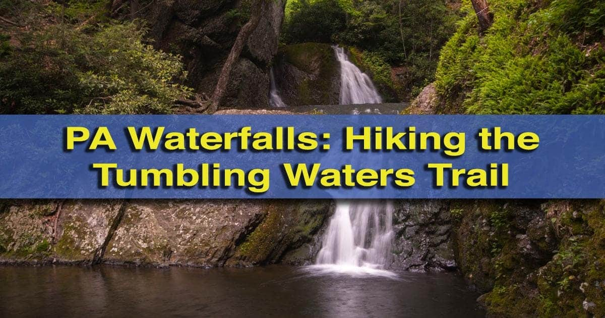 Hiking the Tumbling Waters Trail at the Pocono Environmental Education Center in the Delaware Water Gap