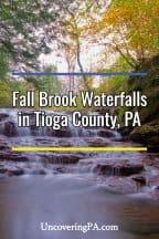 Fall Brook Waterfalls in Tioga County, PA
