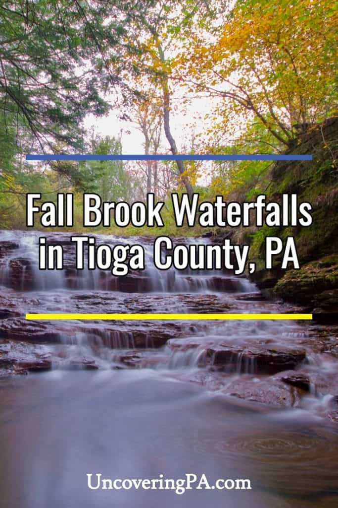 Fall Brook Waterfalls in Tioga County, PA
