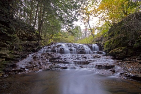 Fall Brook Falls in Tioga County, Pennsylvania