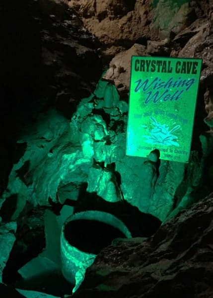 Inside Crystal Cave in Kutztown, PA.