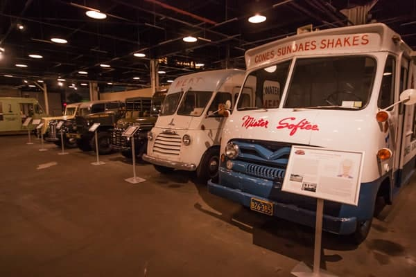 Antique trucks at the Boyertown Museum of Historic Vehicles.
