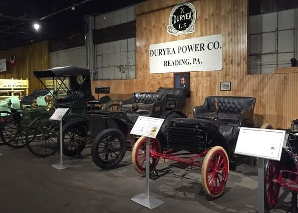 Duryea Power Company automobile at the Boyertown Auto Museum