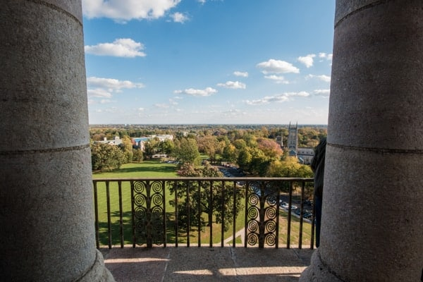 View from the tower of Glencairn Museum in Bryn Athyn, Pennsylvania