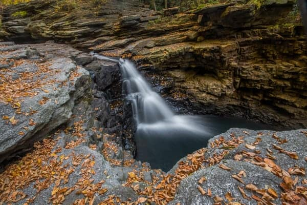 Nay Aug Falls in Scranton PA during fall foliage season