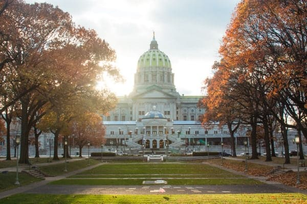 Photo spots in Harrisburg: Soldier's Grove and PA Capitol