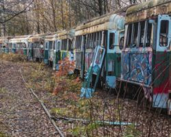 See Inside the Abandoned Trolley Graveyard Near Johnstown, Pennsylvania