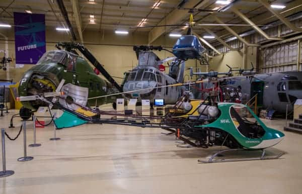 Inside the American Helicopter Museum in West Chester, Pennsylvania