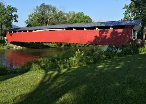 Visiting Millmont Covered Bridge in Union County, Pennsylvania