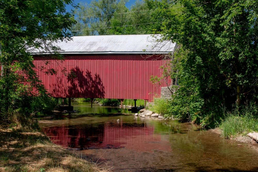 Hassenplug Covered Bridge in Union County Pennsylvania