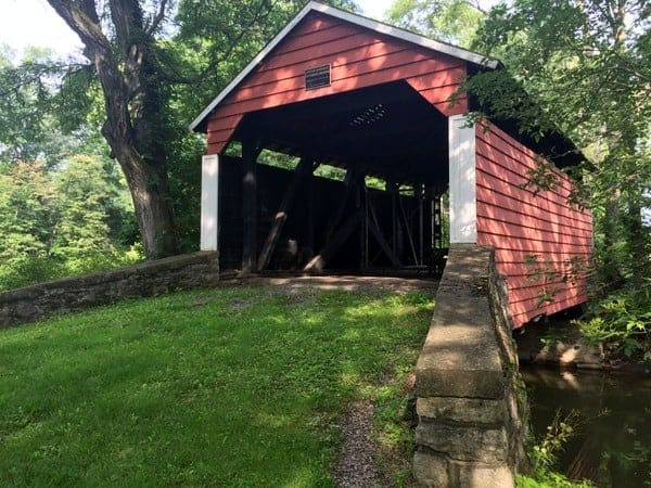 Hubler Covered Bridge near Lewisburg, Pennsylvania.