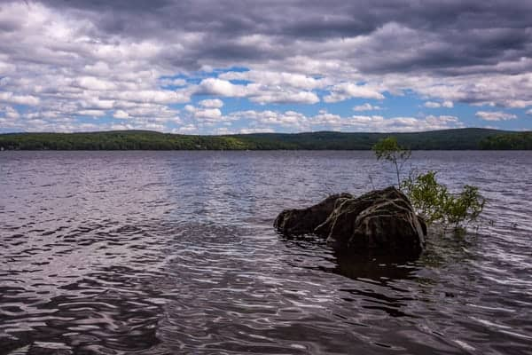 Lake Wallenpaupack from Shuman Point Natural Area near Wilsonville, PA